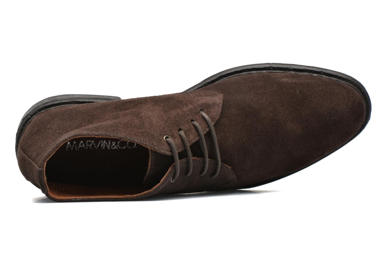 Chaussures à lacets Marvin&Co Tunstall Marron vue gauche