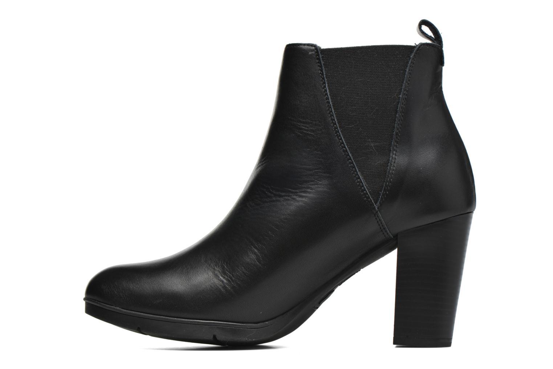 Ankle boots Karston UBAK *Veau NOIR ~1ere.CUIR Black front view