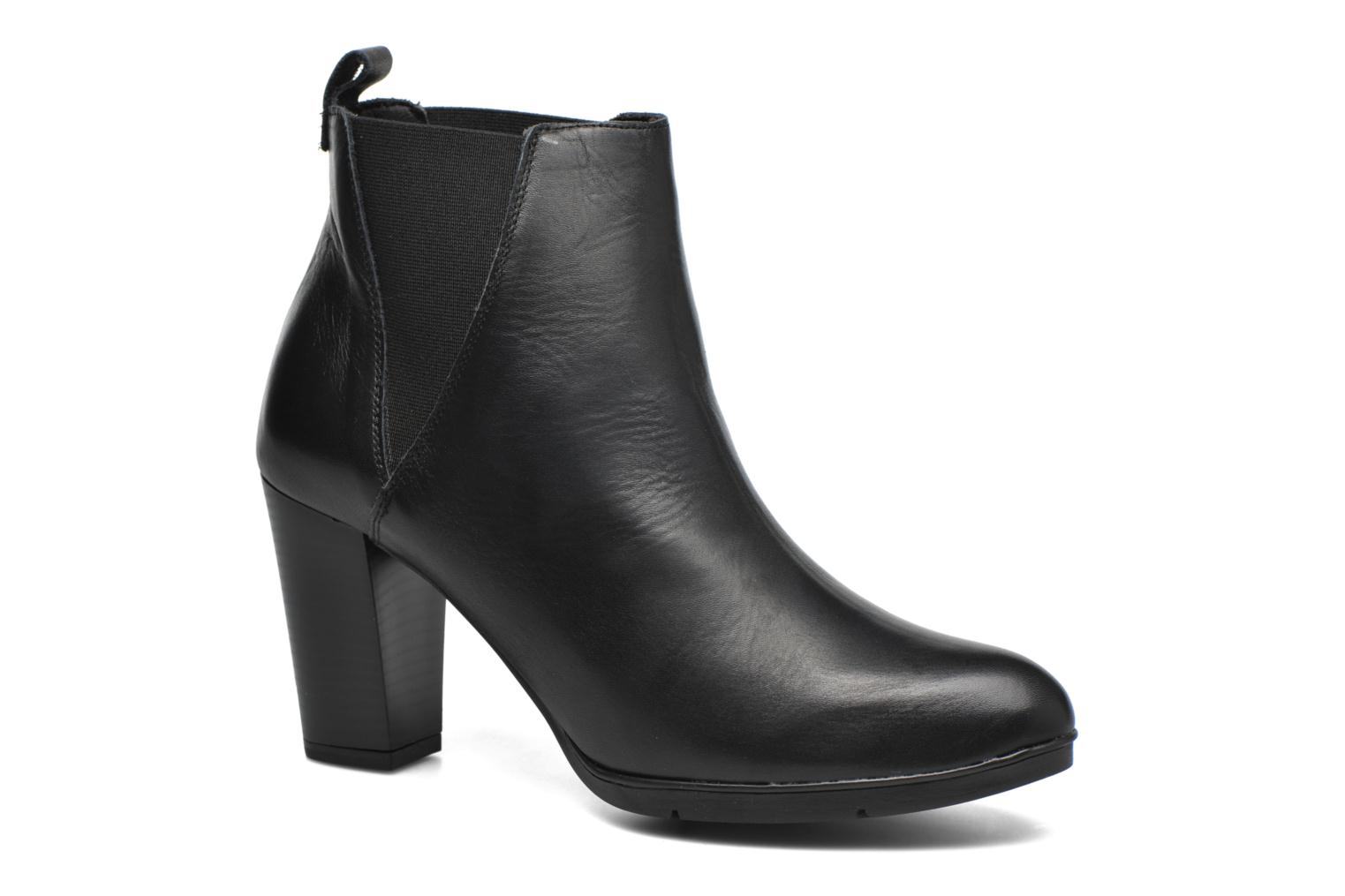 Ankle boots Karston UBAK *Veau NOIR ~1ere.CUIR Black detailed view/ Pair view