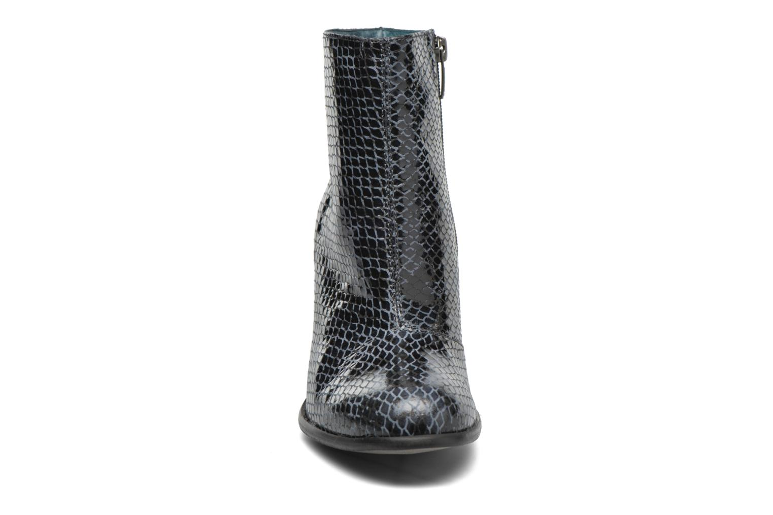 Ankle boots Karston GLAGOS #Cobra CARBONE ~Doubl & 1ere CUIR Black model view