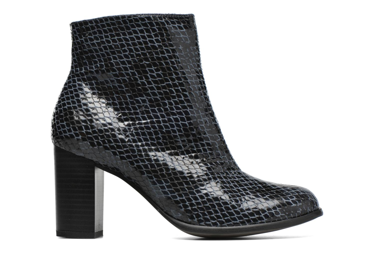 Ankle boots Karston GLAGOS #Cobra CARBONE ~Doubl & 1ere CUIR Black back view