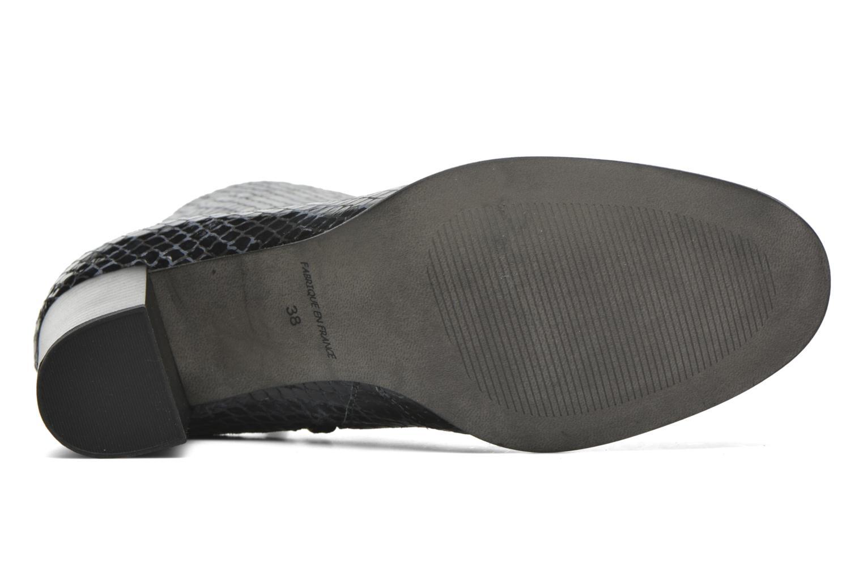 Bottines et boots Karston GLAGOS #Cobra CARBONE ~Doubl & 1ere CUIR Noir vue haut