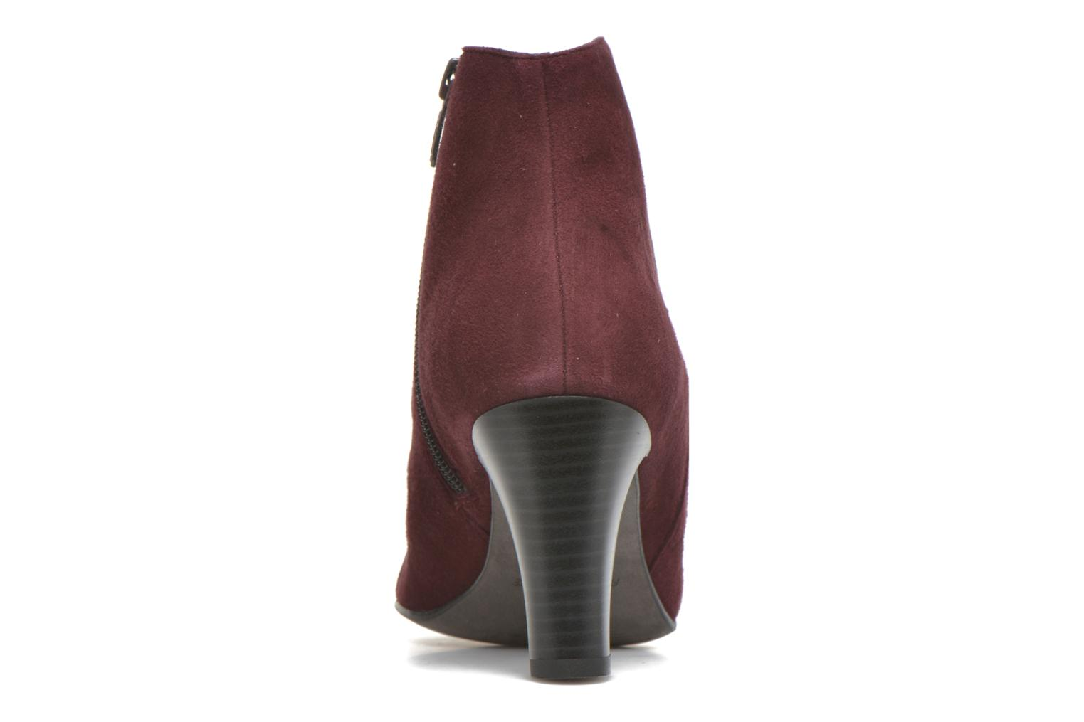 Ankle boots Karston IFLOU #Ch Velours PRUNE ~Doubl & 1ere CUIR Burgundy view from the right