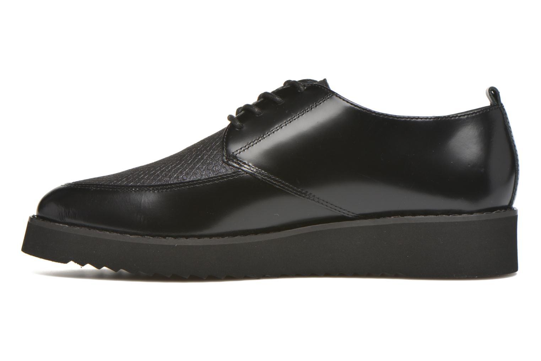 Chaussures à lacets Karston ORON *Mul Vo Box Kid NOIR ~Doubl & 1ere CUIR Noir vue face