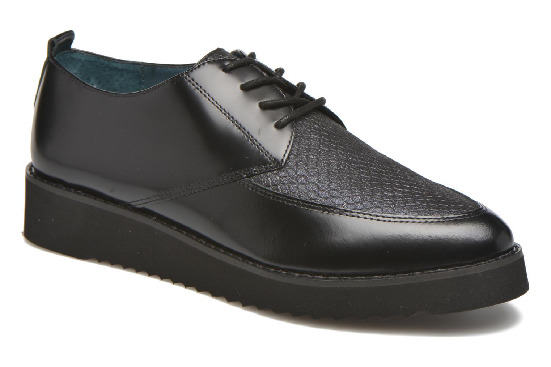Chaussures à lacets Karston ORON *Mul Vo Box Kid NOIR ~Doubl & 1ere CUIR Noir vue détail/paire