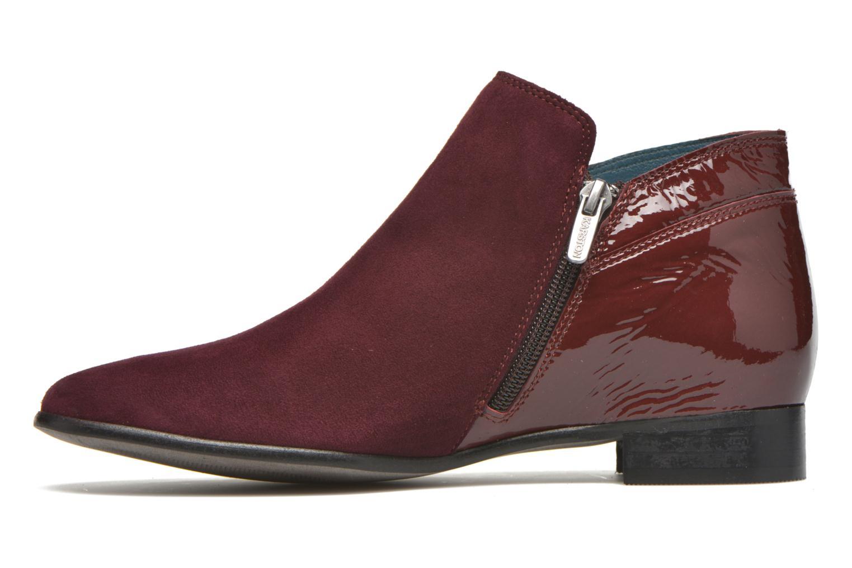 Bottines et boots Karston JOTINI *Multi Ch Vel PRUNE ~Doubl & 1ere CUIR Bordeaux vue face