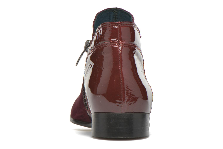 Bottines et boots Karston JOTINI *Multi Ch Vel PRUNE ~Doubl & 1ere CUIR Bordeaux vue droite