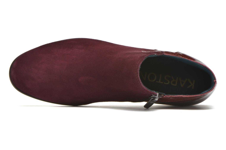 Bottines et boots Karston JOTINI *Multi Ch Vel PRUNE ~Doubl & 1ere CUIR Bordeaux vue gauche