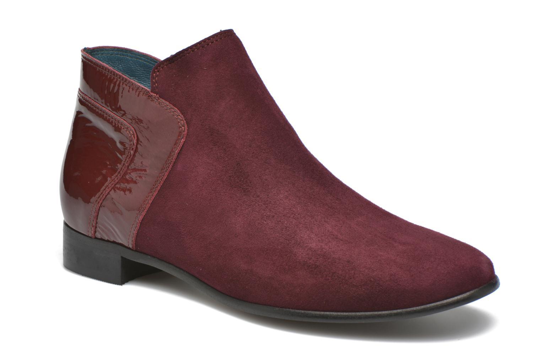 Bottines et boots Karston JOTINI *Multi Ch Vel PRUNE ~Doubl & 1ere CUIR Bordeaux vue détail/paire