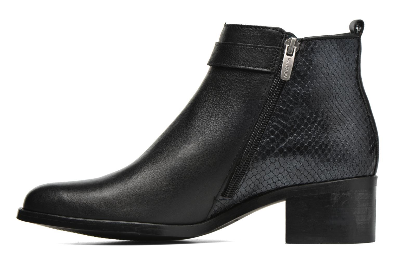 Ankle boots Karston GLELIN #Mult Vo Milled NOIR ~Doubl & 1ere CUIR Black front view