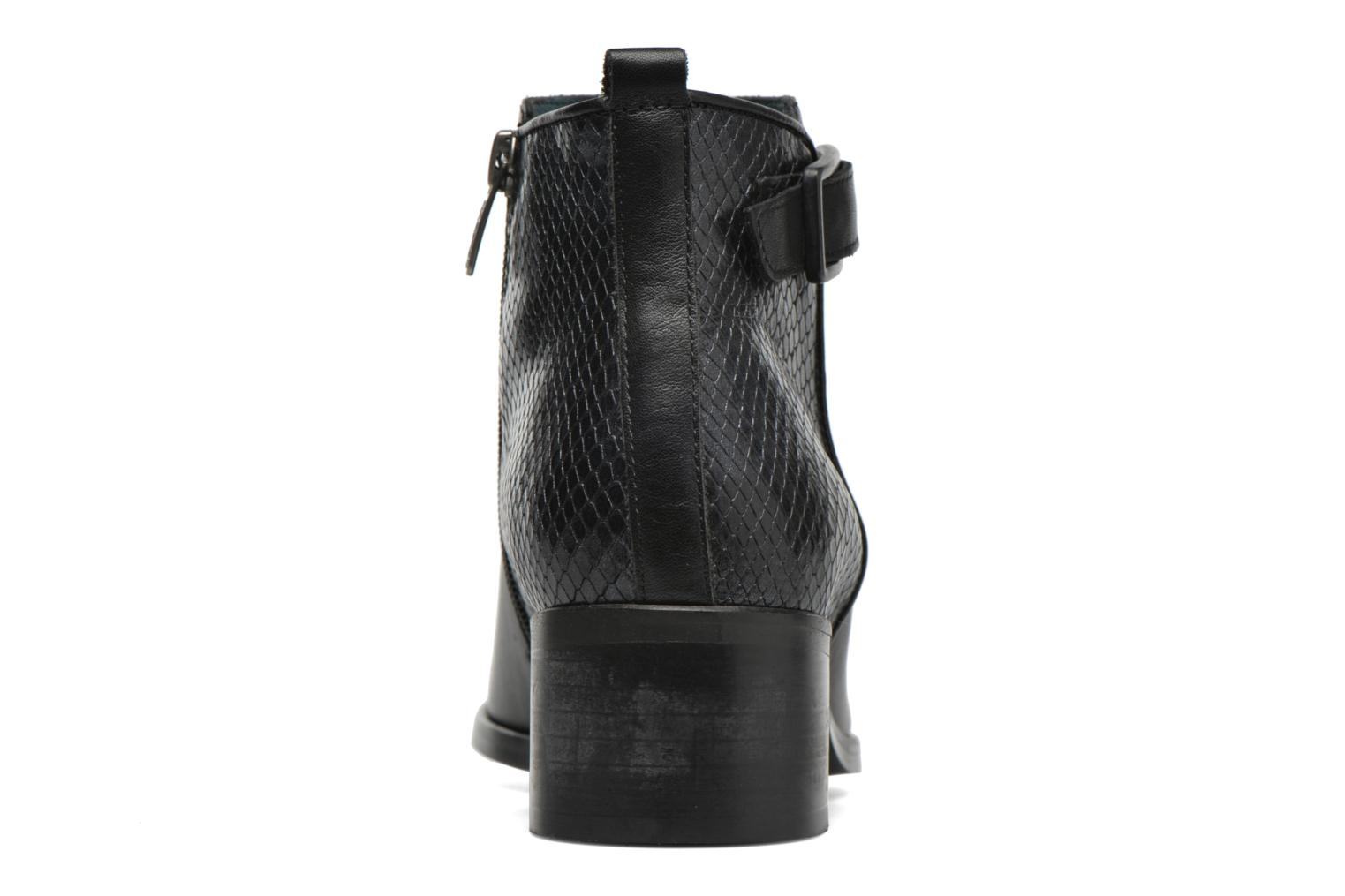 Ankle boots Karston GLELIN #Mult Vo Milled NOIR ~Doubl & 1ere CUIR Black view from the right