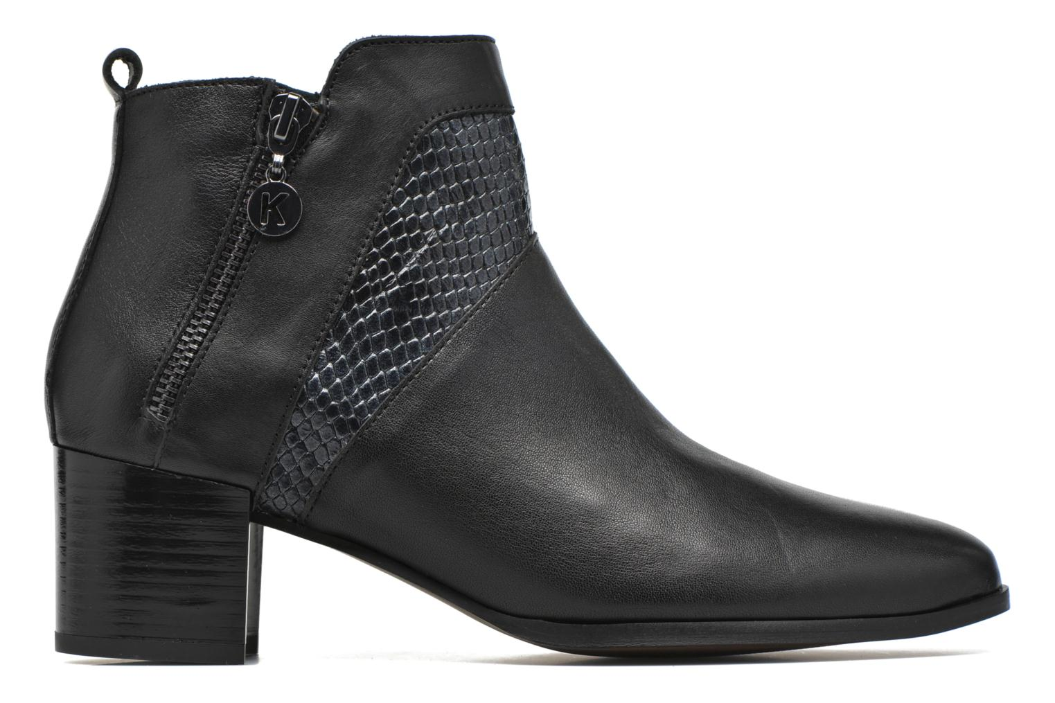 Botines  Karston HECHIX #Mult Vo Milled NOIR ~Doubl & 1ere CUIR Negro vistra trasera