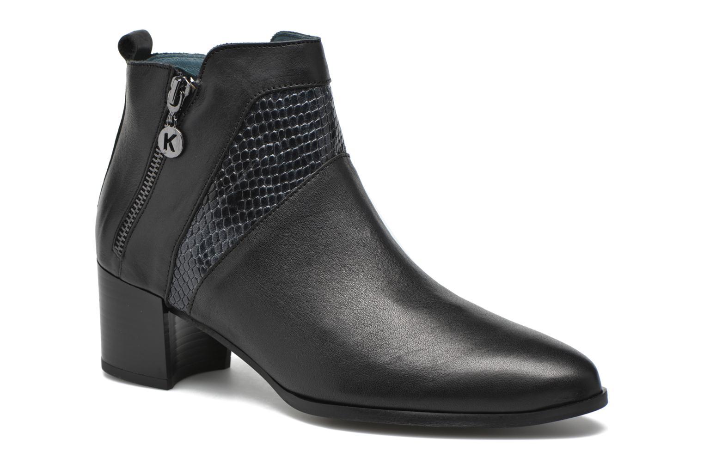 Stiefeletten & Boots Karston HECHIX #Mult Vo Milled NOIR ~Doubl & 1ere CUIR schwarz detaillierte ansicht/modell