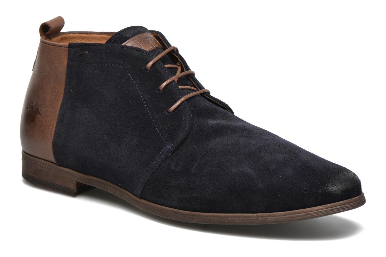 Lace-up shoes Kost Zepi76 Blue detailed view/ Pair view