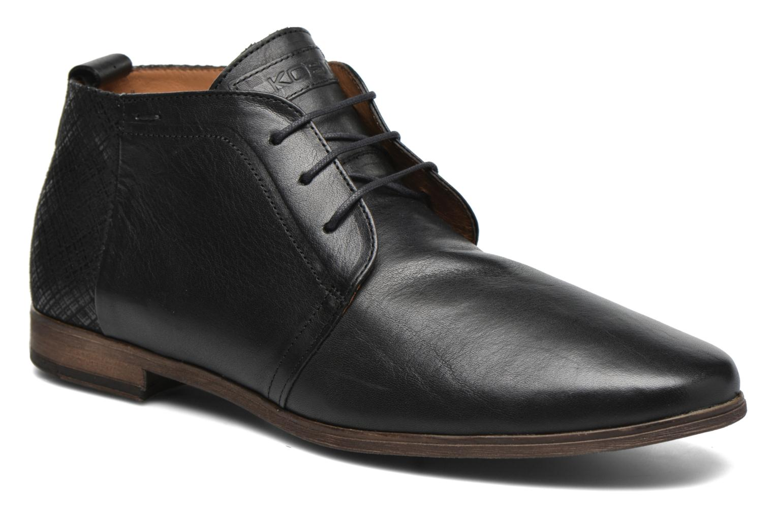 Lace-up shoes Kost Zepee21 Black detailed view/ Pair view