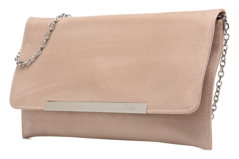 Handbags Menbur Pochette suédée S Pink model view