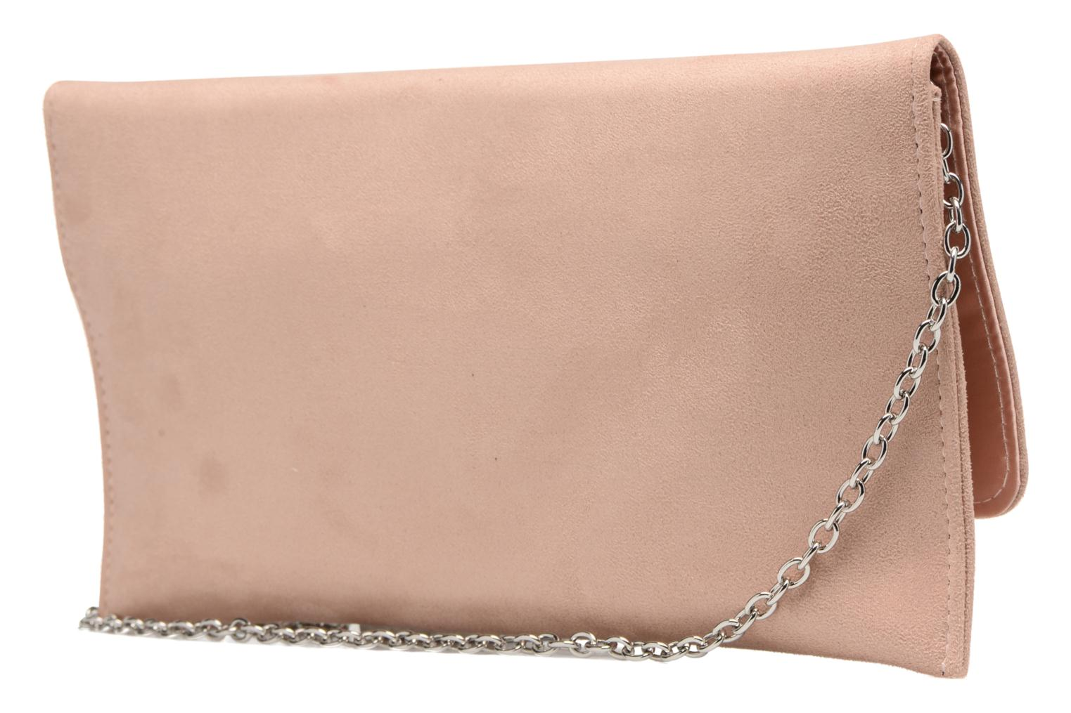 Handbags Menbur Pochette suédée S Pink view from the right