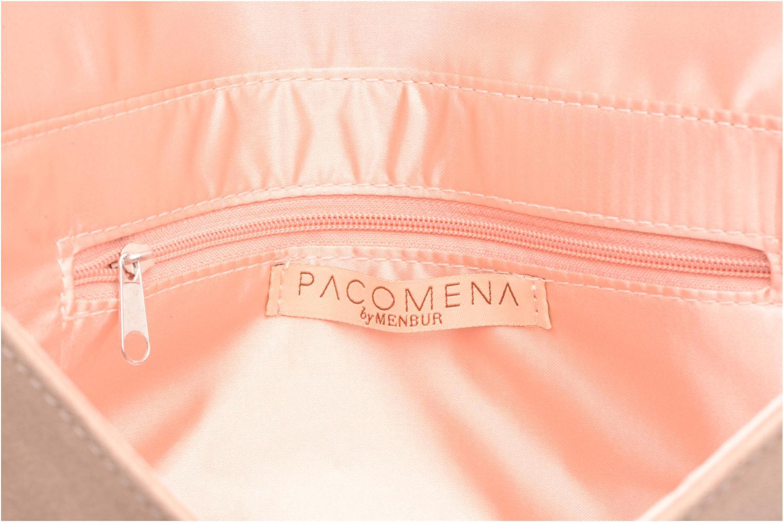 Handbags Menbur Pochette suédée S Pink back view