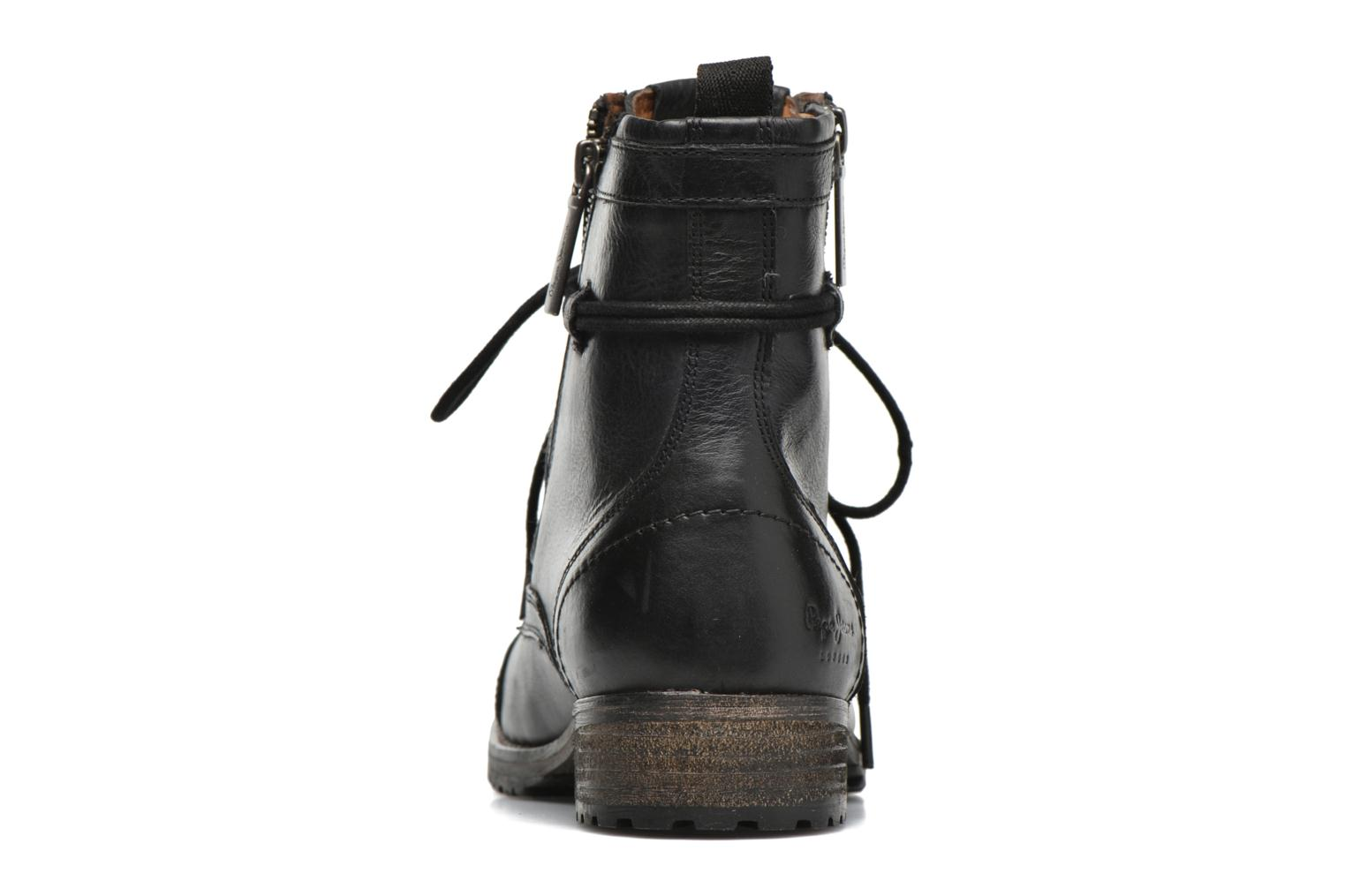 Botines  Pepe jeans Melting W. Zipper Negro vista lateral derecha