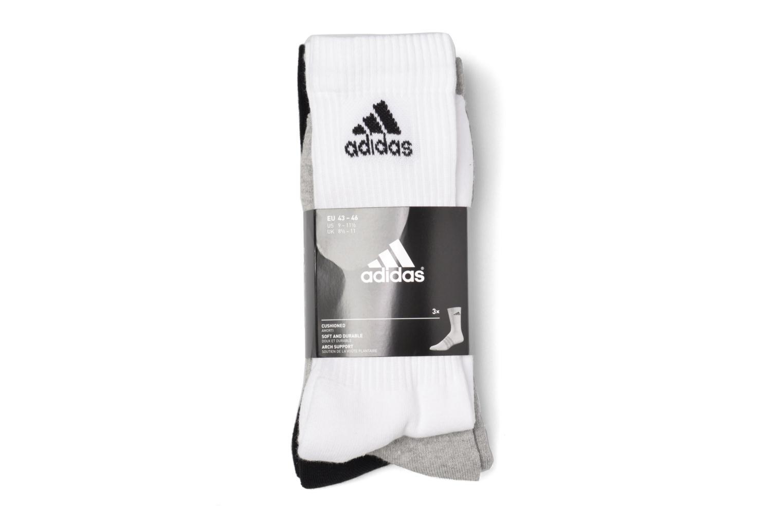 Chaussettes et collants Adidas Performance 3S PER CR HC 3P Blanc vue derrière