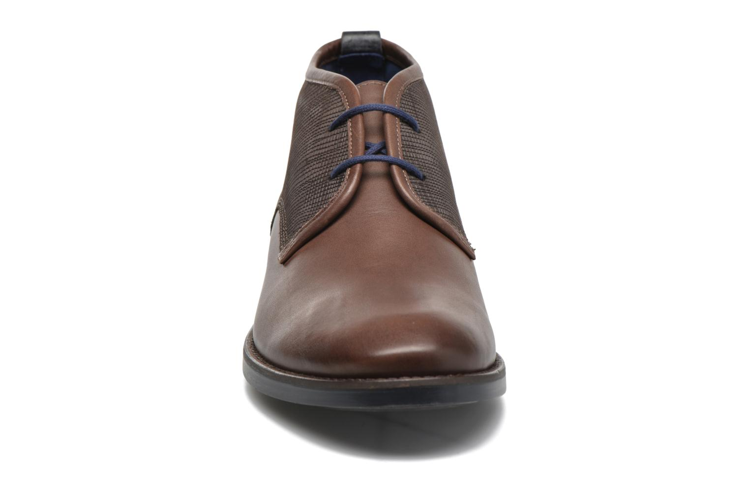 Lace-up shoes Sioux Scurio-HW Brown model view