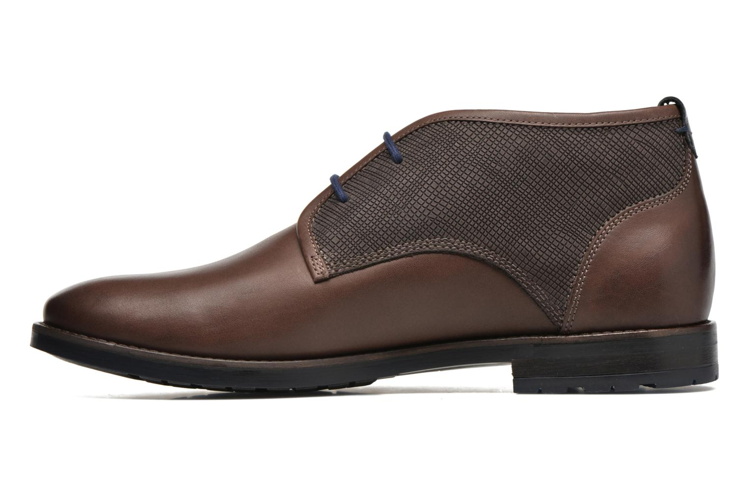 Lace-up shoes Sioux Scurio-HW Brown front view