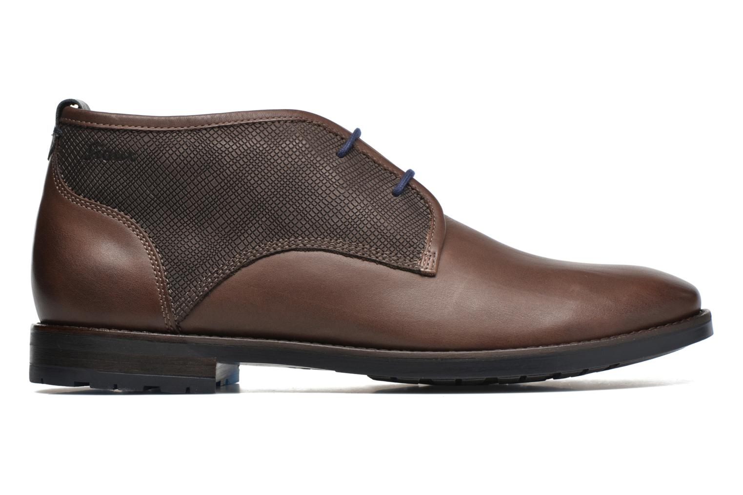 Lace-up shoes Sioux Scurio-HW Brown back view
