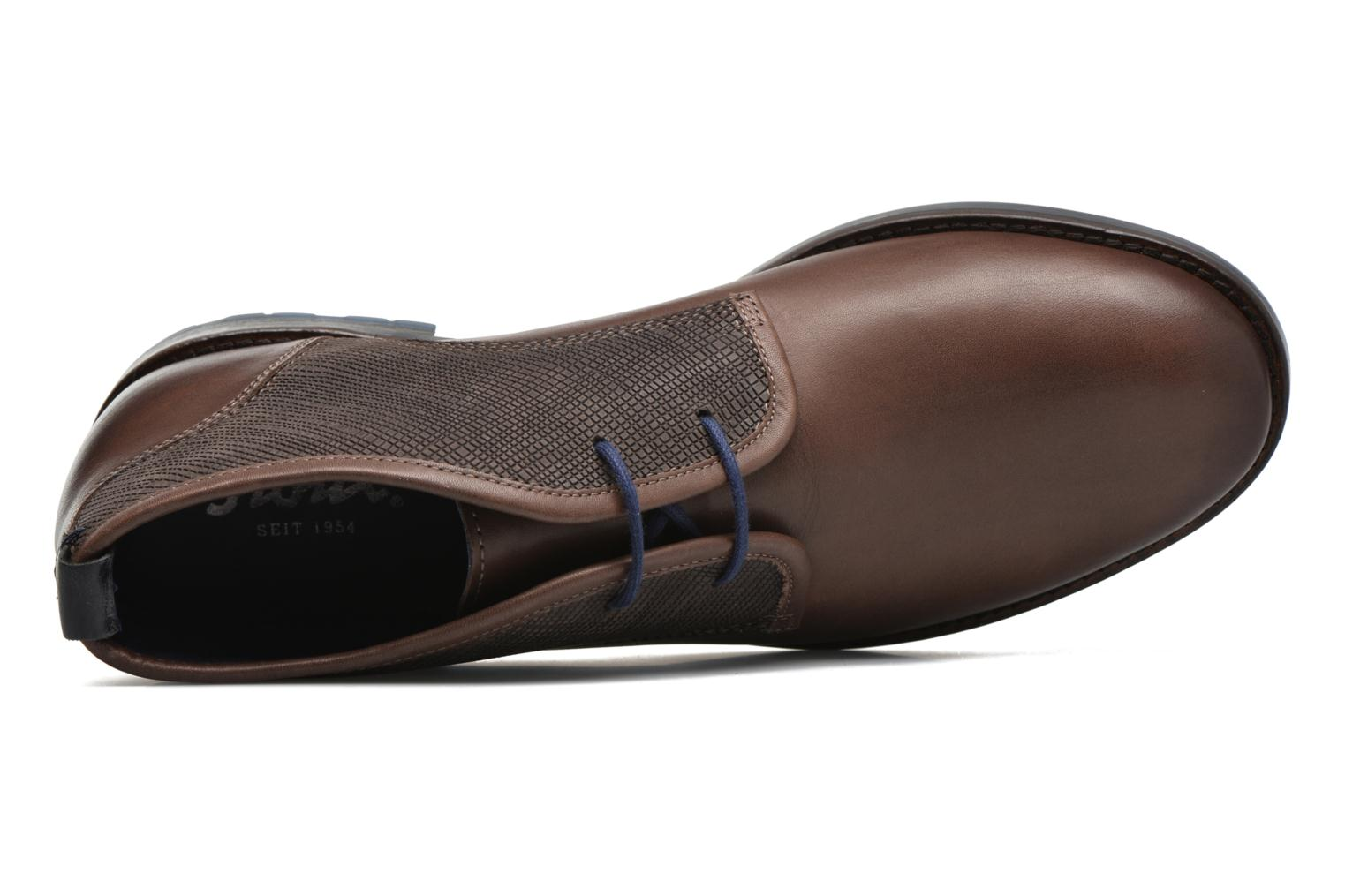 Lace-up shoes Sioux Scurio-HW Brown view from the left