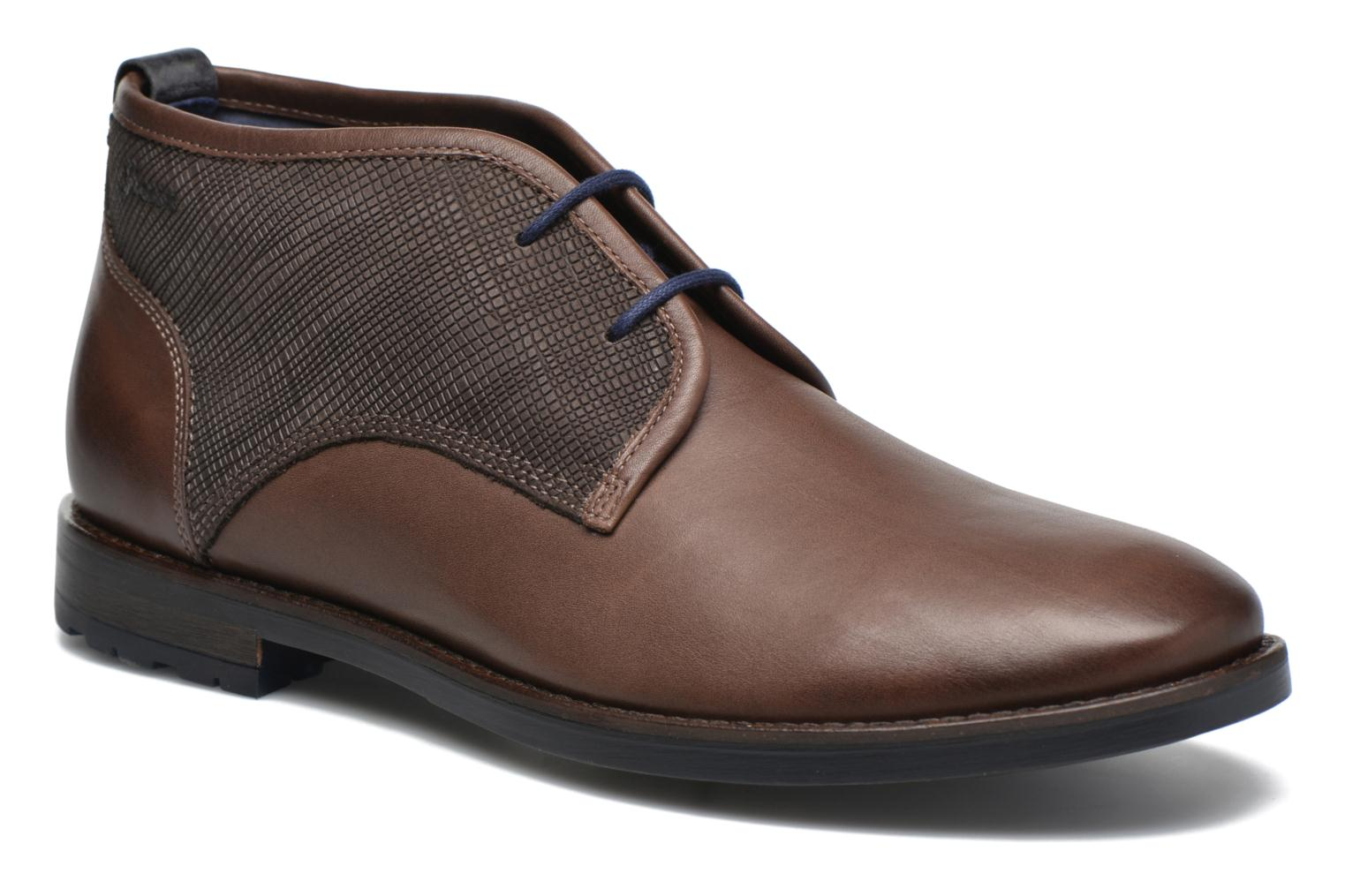 Lace-up shoes Sioux Scurio-HW Brown detailed view/ Pair view