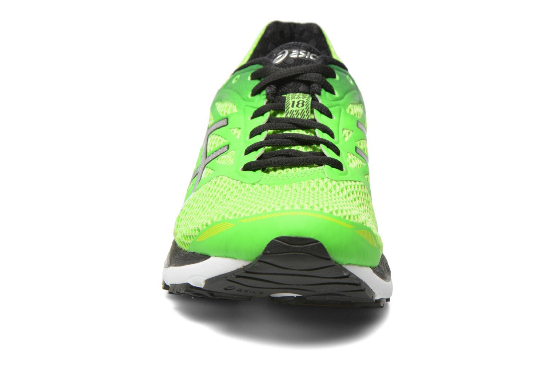Sportschuhe Asics Gel-Cumulus 18 grün schuhe getragen