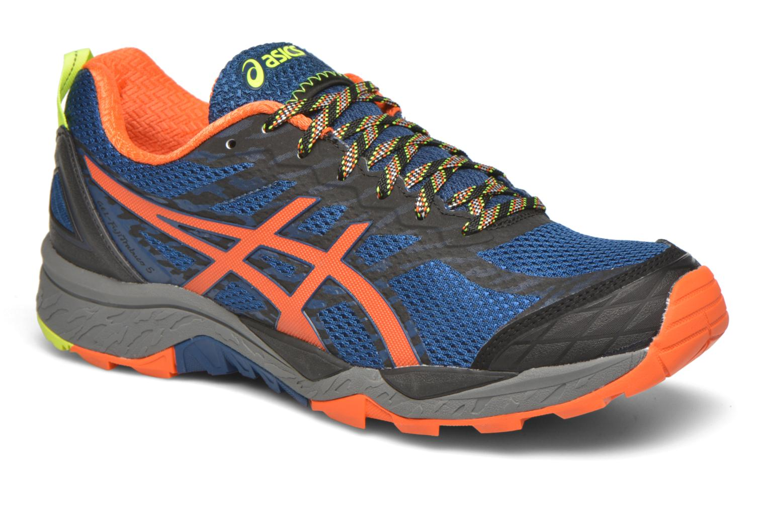 Sport shoes Asics Gel-Fujitrabuco 5 Blue detailed view/ Pair view