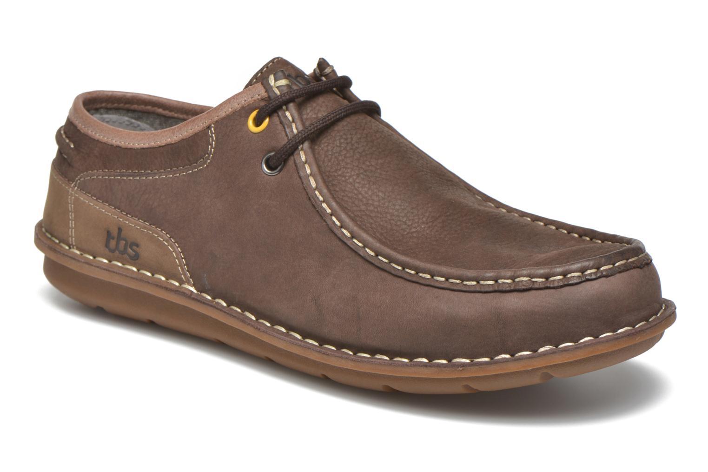 Chaussures à lacets TBS Yakari Marron vue détail/paire