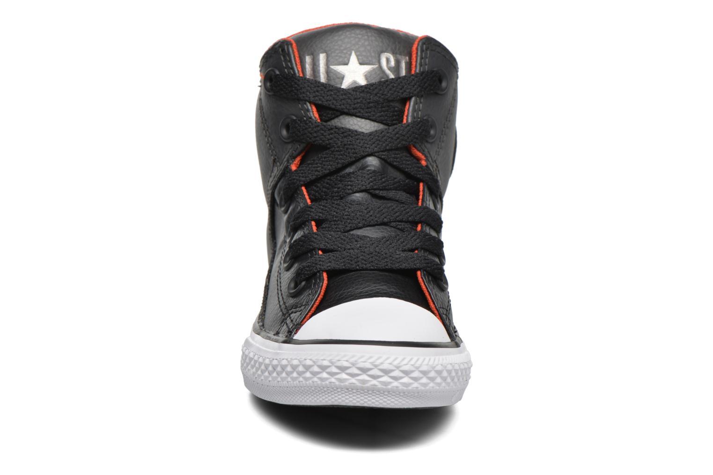 Baskets Converse Chuck Taylor All Star High Street Hi Gris vue portées chaussures