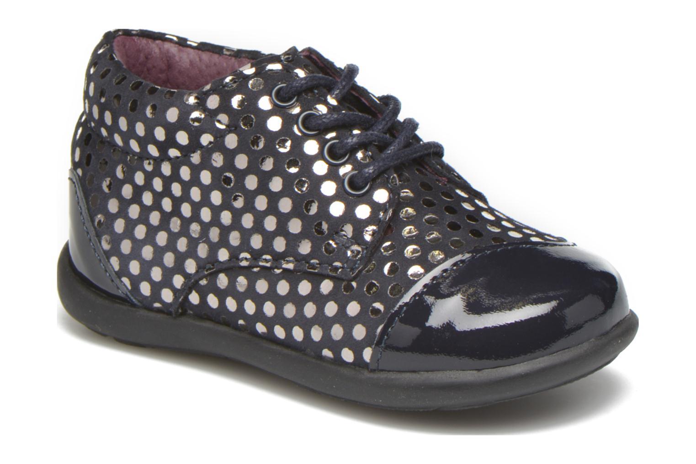 Chaussures à lacets Mod8 Lou Bleu vue détail/paire