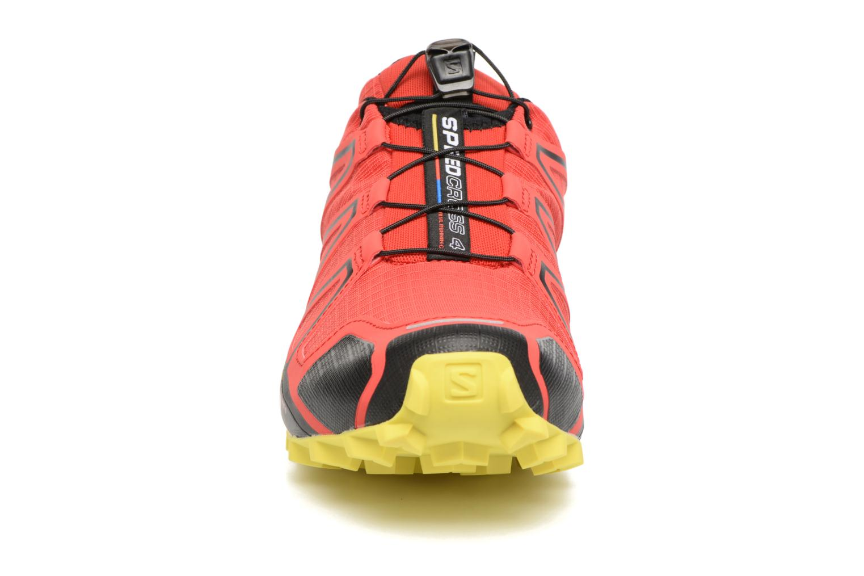 Chaussures de sport Salomon Speedcross 4 Rouge vue portées chaussures