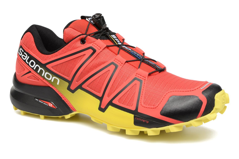 Chaussures de sport Salomon Speedcross 4 Rouge vue détail/paire
