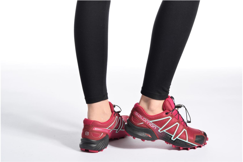 Chaussures de sport Salomon Speedcross 4 W Rose vue bas / vue portée sac