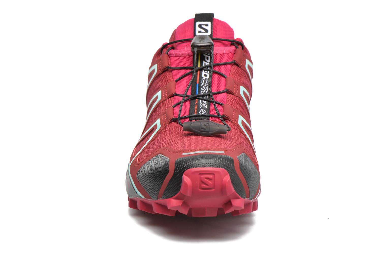 Chaussures de sport Salomon Speedcross 4 W Rose vue portées chaussures
