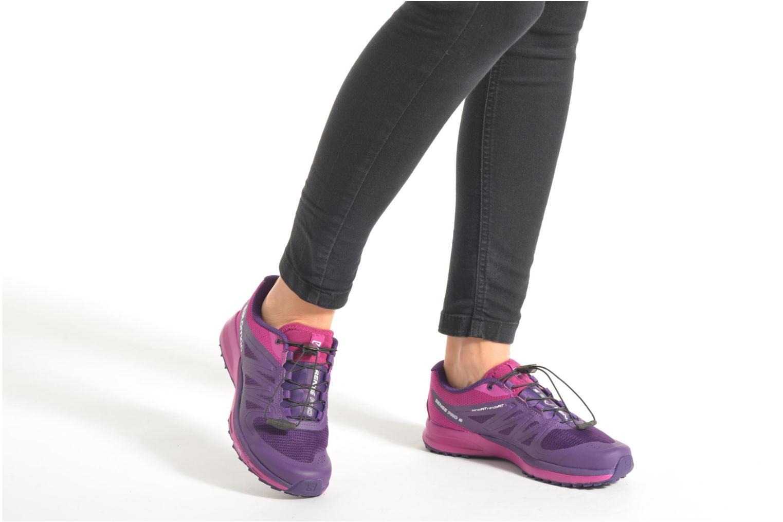 Chaussures de sport Salomon Sense Pro 2 W Violet vue bas / vue portée sac