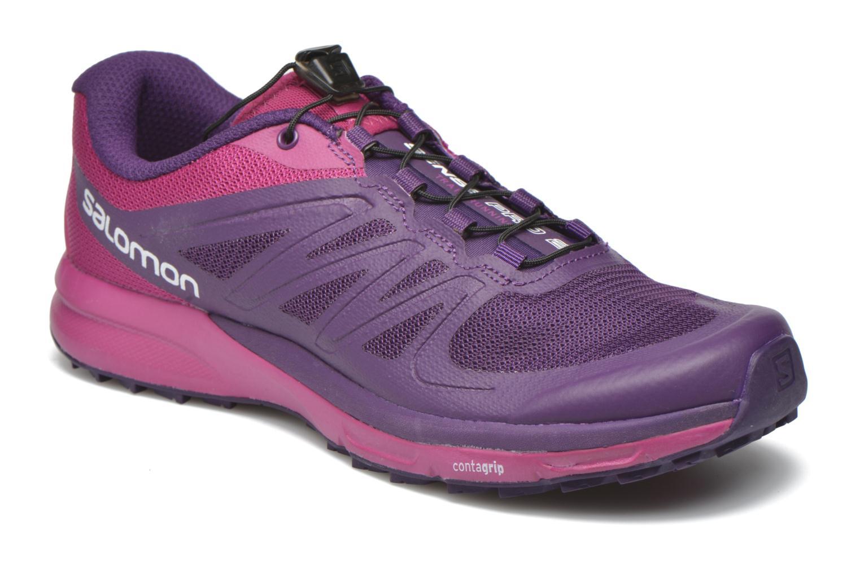 Chaussures de sport Salomon Sense Pro 2 W Violet vue détail/paire
