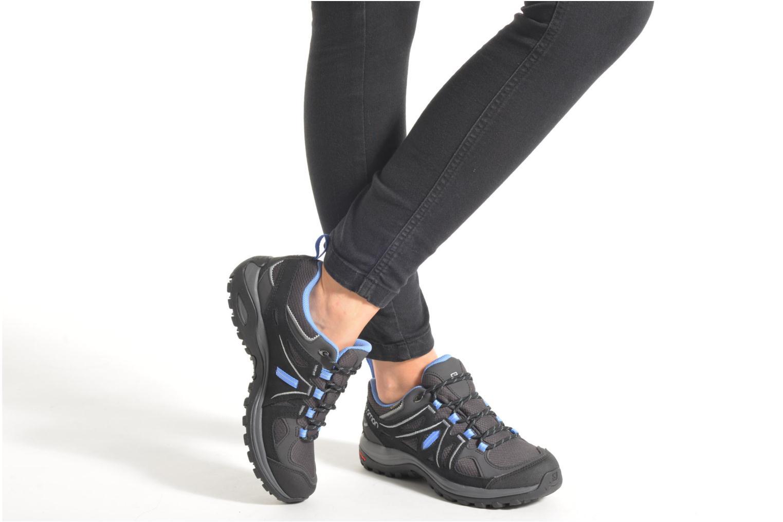 Chaussures de sport Salomon Ellipse 2 GTX W Gris vue bas / vue portée sac