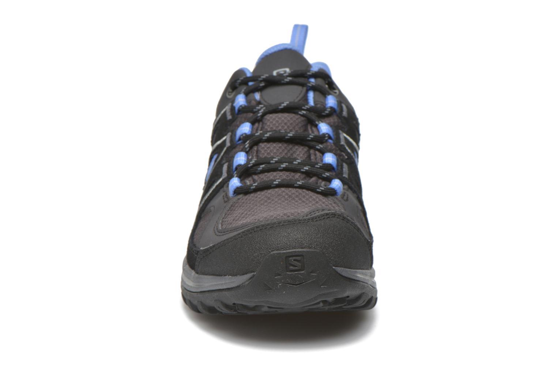 Chaussures de sport Salomon Ellipse 2 GTX W Gris vue portées chaussures