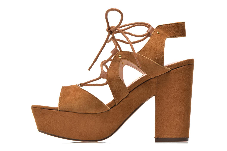 Sandales et nu-pieds Bronx Jada Marron vue face