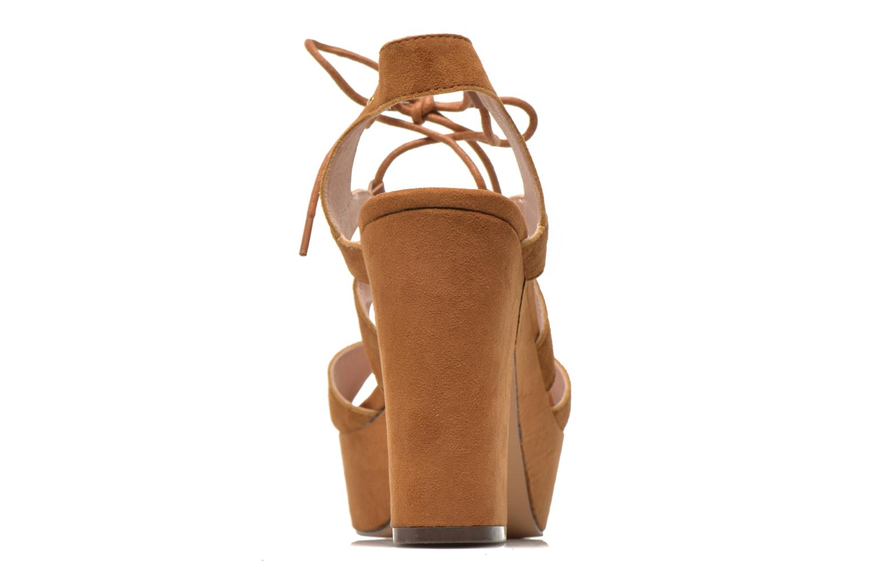 Sandales et nu-pieds Bronx Jada Marron vue droite