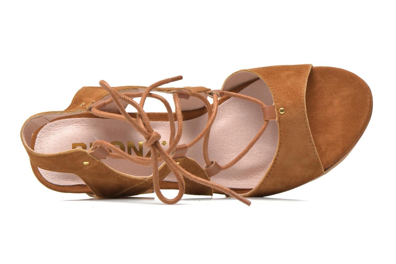 Sandales et nu-pieds Bronx Jada Marron vue gauche