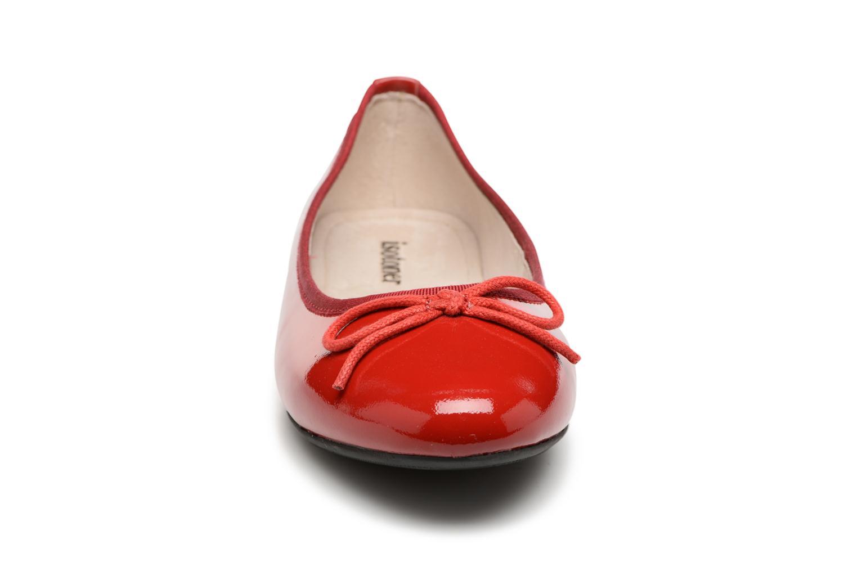 Ballerines Isotoner Ballerine nœud Rouge vue portées chaussures