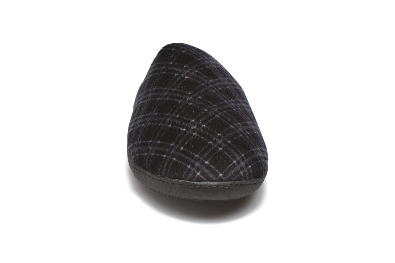 Hausschuhe Isotoner Mule ergonomique velours X-TRA Confort mehrfarbig schuhe getragen