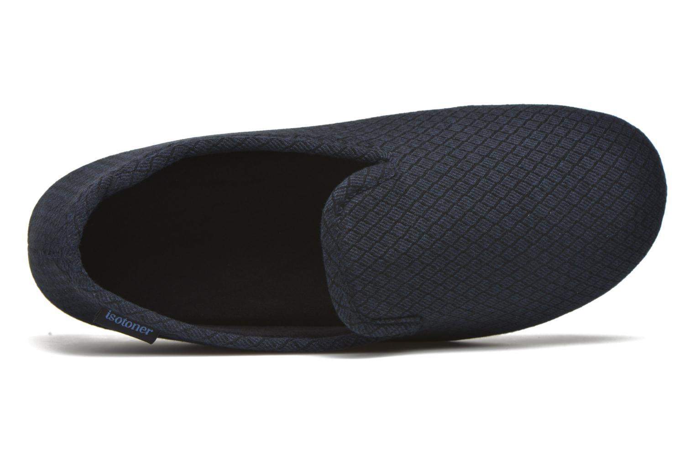 Slipper velours texturé Bleu