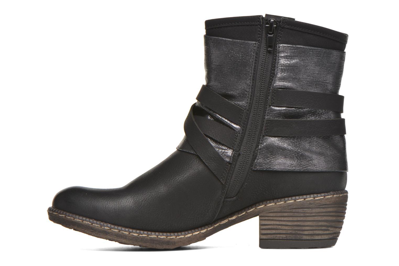 Bottines et boots Rieker Gil K1483 Noir vue face