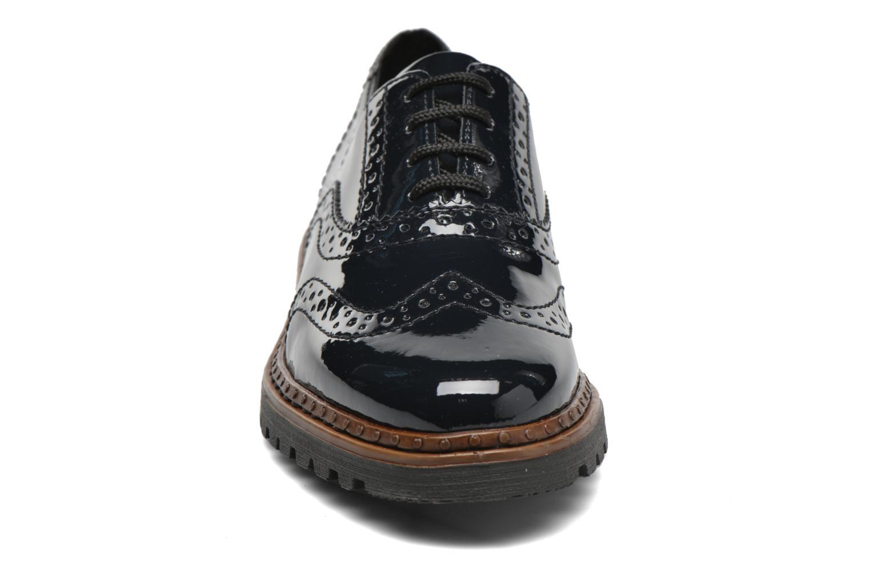 Schnürschuhe Rieker Lisa 54812 blau schuhe getragen